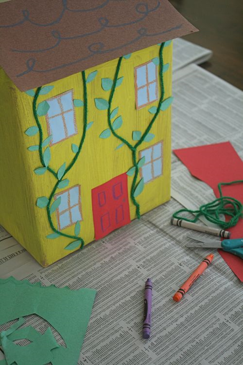 An Old House Covered with Vines craft - Madeline by Ludwig Bemelmans - Off the Shelf