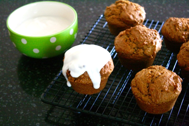 Peanut Butter Muffins with Greek Yogurt Frosting - The Adventures of Beekle: The Unimaginary Friend - offtheshelfblog.com