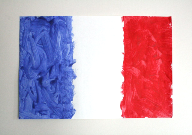 French Flag Painting