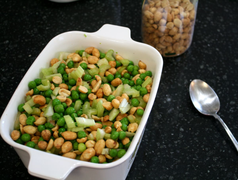 Peanut-Pea Salad - Make Way for Ducklings - offtheshelfblog.com