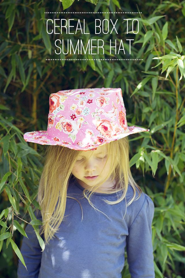 Cereal-box-to-summer-hat