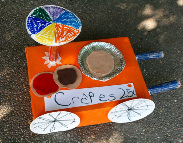 Crepe Pushcart Craft and Felt Crepes - Crepes by Suzette - Monica Wellington - offtheshelfblog.com