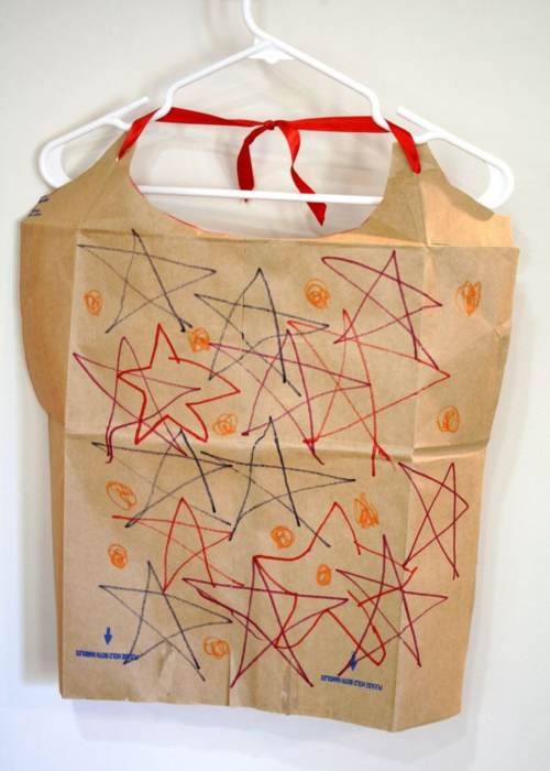 Make a Cape from a Paper Bag - Nana in the City by Lauren Castillo - offtheshelfblog.com