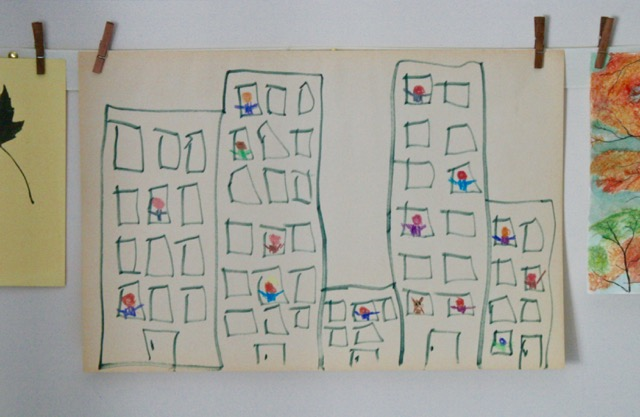 City Shapes Art Activity - Nana in the City - Lauren Castillo - offtheshelfblog.com