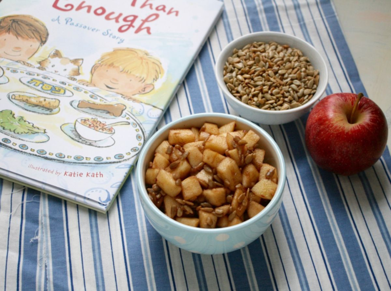 Charoset recipe for kids inspired by More Than Enough by April Halprin Wayland and Katie Kath - offtheshelfblog.com