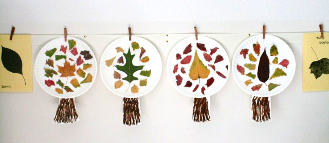 Leaf Mosaic Trees Craft - My Leaf Book - Monica Wellington - offtheshelfblog.com