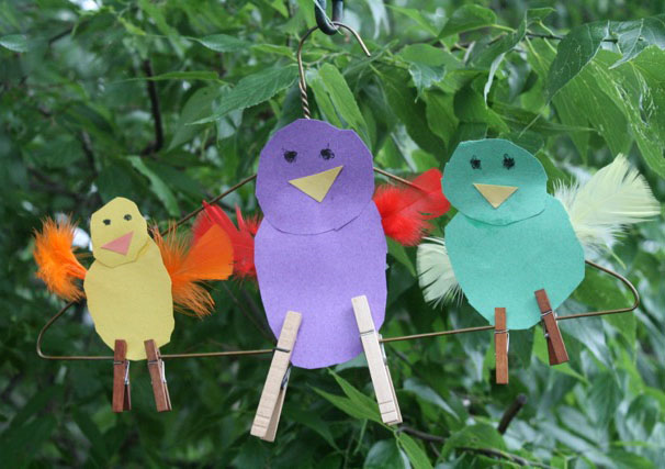 Birds on a Wire Craft - Telephone by Mac Barnett and illustrated by Jen Corace - offtheshelfblog.com