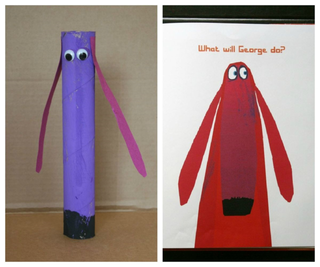 Oh No, George! Paper Tube Craft - Oh No, George! by Chris Haughton - offtheshelfblog.com