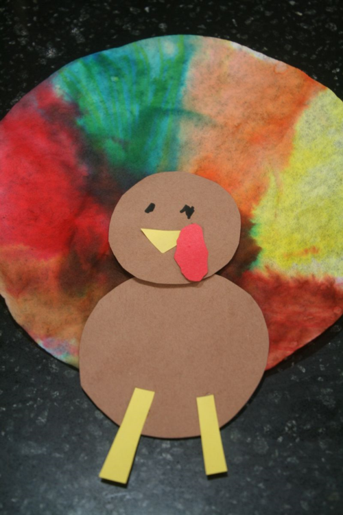 Tie Dye Turkeys - A Turkey for Thanksgiving - offtheshelfblog.com