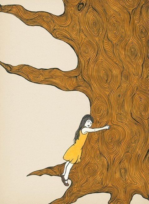 Tree hugger art print Shirae Etsy