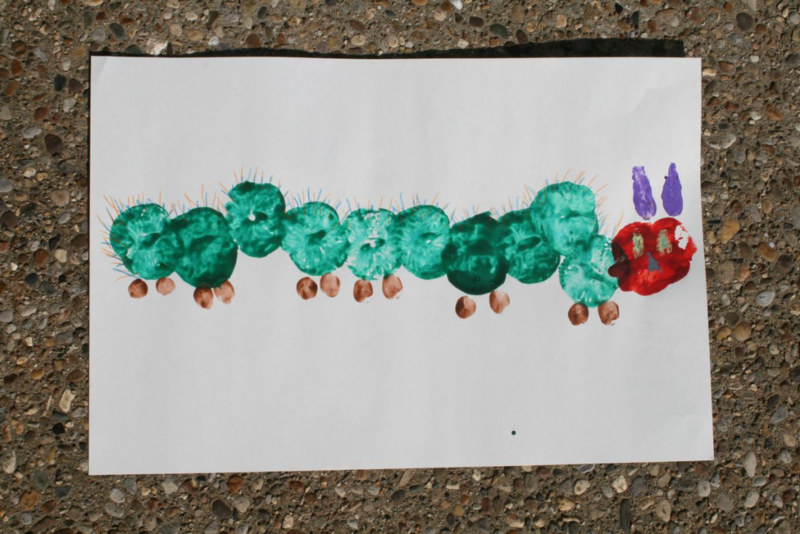 Caterpillar Fruit Stamps