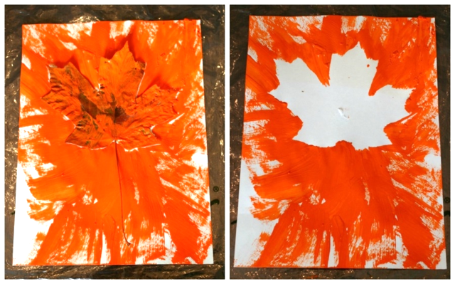 Leaf Burst Paintings